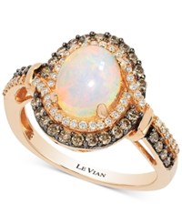 Le Vian Chocolatier Opal 1 1 5 Ct. T.W. And Diamond 1 2 Ct. T.W. Ring In 14K Rose Gold