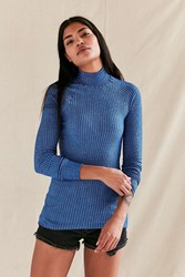 Urban Renewal Vintage Blue Swedish Ribbed Tunic Top