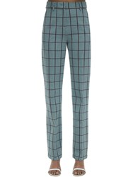 M Missoni Checked Cady Pants Light Blue