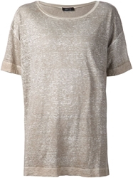 Avant Toi Loose Fit T Shirt Nude And Neutrals