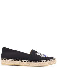 Kenzo Tiger Embroidery Espadrilles Black
