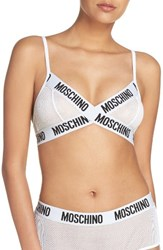 Moschino Women's Mesh Triangle Bralette