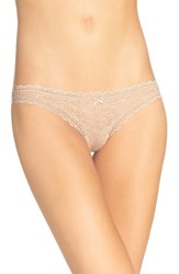 Free People Women's Lace Thong Nude