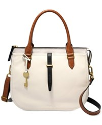 Fossil Ryder Medium Satchel Neutral Multi