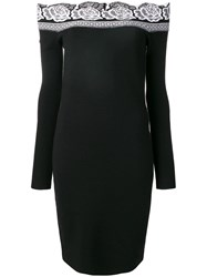 D.Exterior Off Thehoulder Dress Black