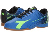 Diadora 7 Tri Id Imperial Blue Lime Punch Black Soccer Shoes