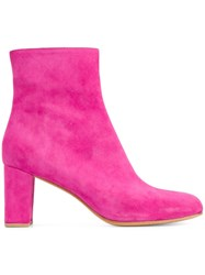 Maryam Nassir Zadeh Suede Ankle Boots Pink And Purple