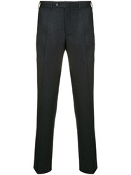 Canali Creased Slim Fit Trousers Grey