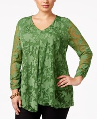 Alfani Plus Size Draped Burnout Top Only At Macy's Willow Bough