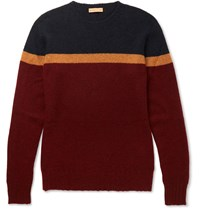 Etro Colour Block Cashmere Sweater Red