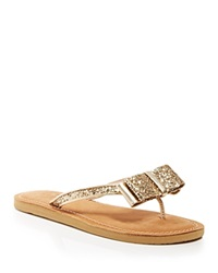 Kate Spade New York Flat Thong Sandals Icarda Glitter