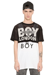 Boy London Mesh Crop Top Black