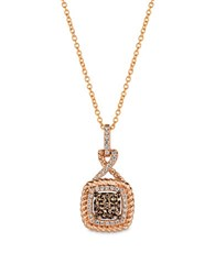 Levian Chocolatier Diamond And 14K Strawberry Gold Pendant Necklace 0.43 Tcw