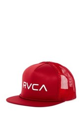 Rvca Foamy Trucker Snap Back Hat Red