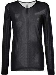 Rick Owens Semi Sheer Sweater Black