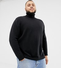 Tom Tailor Plus Knitted Roll Neck Jumper In Black