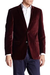 U.S. Polo Assn. Jim Maroon Two Button Notch Lapel Modern Fit Suit Separates Sports Coat Red