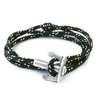 Anchor And Crew All Black Union Rope Bracelet