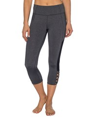 Betsey Johnson Bodycon Fit Cropped Leggings Charcoal Heather