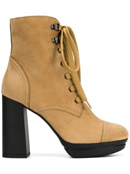 Hogan High Ankle Boots Nude And Neutrals