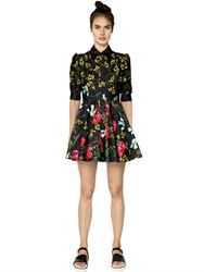 I'm Isola Marras Floral Printed Cotton Satin Shirt Dress