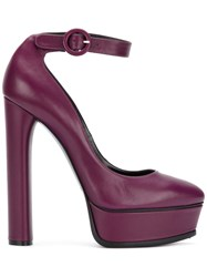 Casadei Buckled High Heel Pumps Women Leather Nappa Leather 37 Pink Purple