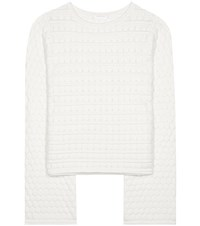 See By Chloe Knitted Cotton Sweater White