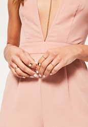 Missguided Gold Stacking Ring Set