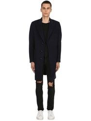 Palto Roberto Wool And Cashmere Coat Blue