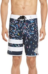 Hurley Men's 'Phantom Block Party Ben Carlson Foundation' Scalloped Board Shorts