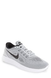 Nike Men's 'Free Rn' Running Shoe White Pure Platinum Black