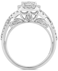 Macy's Diamond Crown Engagement Ring 1 Ct. T.W. In 14K White Gold