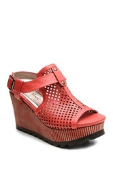 Two Lips Too Indio Perforated Sandal Red