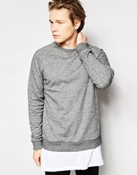 Weekday Crew Sweatshirt Paris Core Salt And Pepper Saltpepper