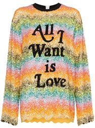 Ashish All I Want Is Love Sequin Embellished Sweatshirt Multicolour