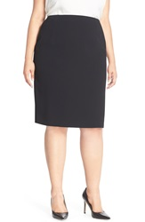 Louben Suit Pencil Skirt Plus Size Black