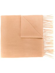 N.Peal Woven Cashmere Scarf Neutrals
