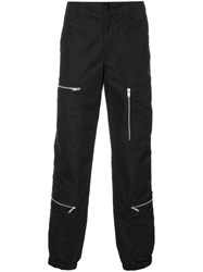 Undercover Gathered Ankle Trousers Men Cotton Nylon 4 Black