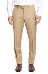 Men's Strong Suit 'Dagger' Flat Front Solid Wool Trousers