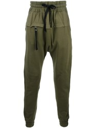 Blood Brother Drop Crotch Trousers Green