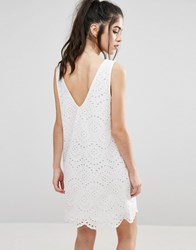 Only Sisse Anglaise V Back Dress Cloud Dancer White