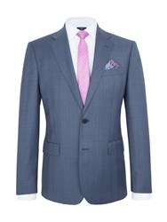 Paul Costelloe Modern Fit Blue Check Suit Jacket