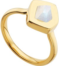 Monica Vinader Petra 18Ct Gold Plated Vermeil And Moonstone Stacking Ring