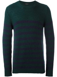 Nuur Striped Jumper Green