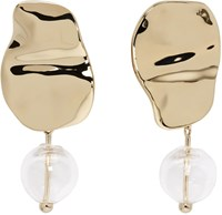 Proenza Schouler Gold And Clear Bead Earrings