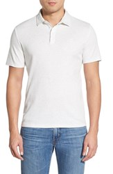 Men's Vince Camuto Trim Fit Heathered Polo White
