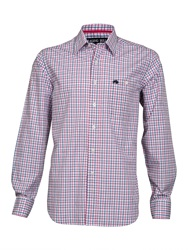 Raging Bull Big And Tall Fine Stripe Long Sleeve Shirt Navy And Pink