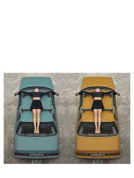 Doubleview Cross Car Multicolor Poster