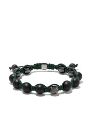 Shamballa Jewels 18Kt White Gold And Black Diamond Star Of Forest Green