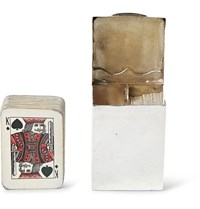 Foundwell Vintage Asprey And Co. Sterling Silver Cardholder Playing Cards Set Silver